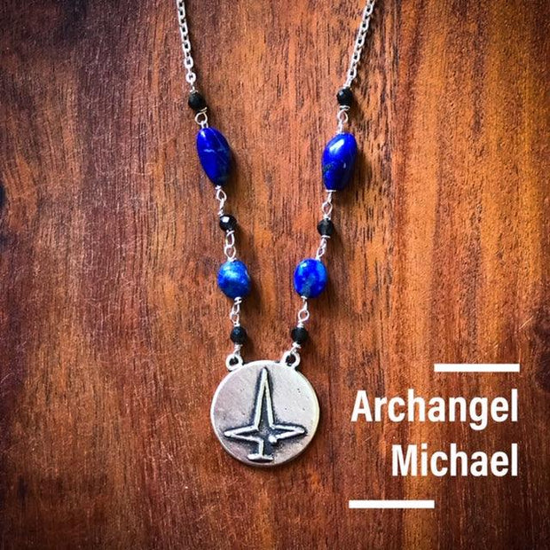 Angel Intention Medallions - Angel Chatter - Christine Alexandria Michael/Lapis Lazuli