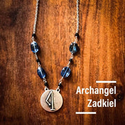 Angel Intention Medallions - Angel Chatter - Christine Alexandria - Zadkiel - Tanzanite - Violet Flame