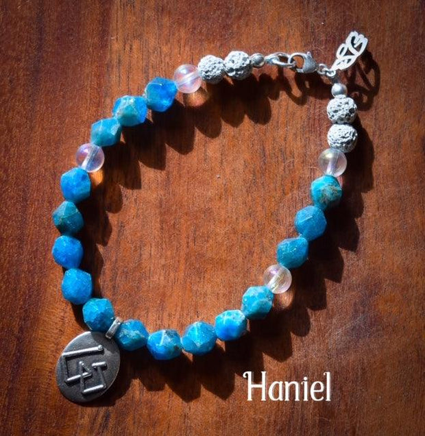 Angel Intention Bracelets - Angel Chatter - Christine Alexandria - Haniel  - Turquoise