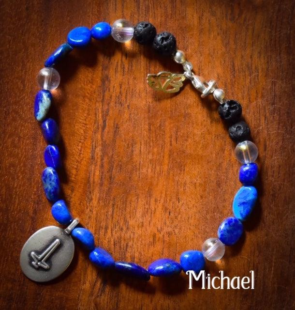Angel Intention Bracelets - Angel Chatter - Christine Alexandria - Michael - lapis lazuli