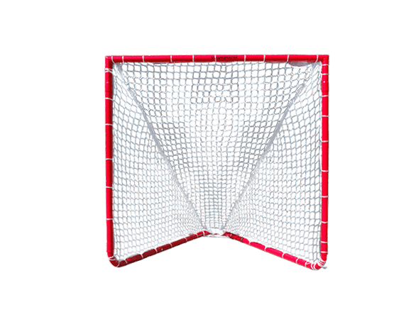 CURRENTLY OUT OF STOCK, AVAILABLE FOR BACK ORDER WITH FEB 2 DELIVERY - Lacrosse Goal - 4x4x4 Box Lacrosse Goal 26 lbs - INCLUDES 5mm White CrankShooter® Net-FREE SHIPPING