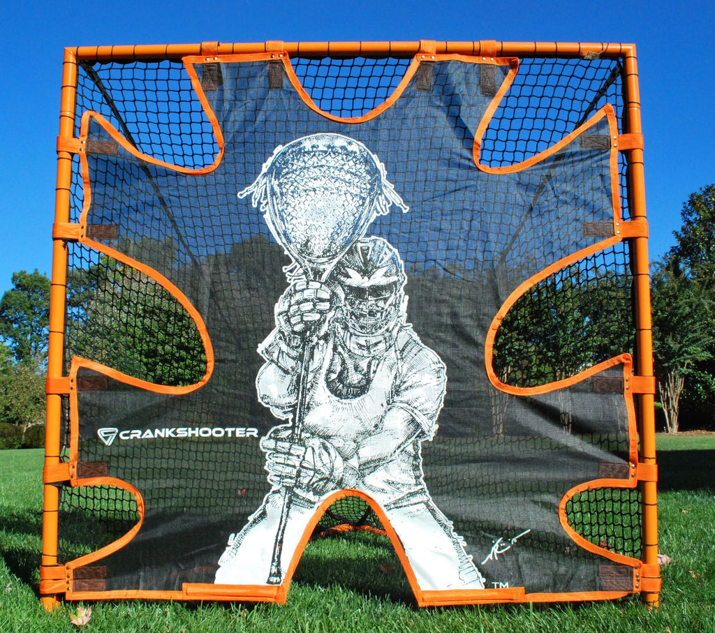 Hi-Impact Lacrosse Shot Trainer for 6'x6'x7' Goal by CrankShooter™ -Triple Stitching - FREE Shipping
