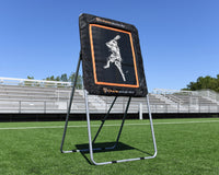 NEW! - Lacrosse Wall by CrankShooter® with weatherproof cover, featuring The Art Of Lax MALE Image (Introductory Price)