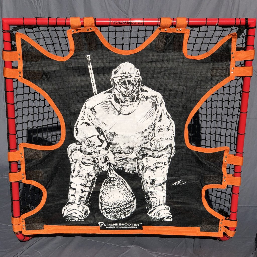 "NEW! Hi-Impact ""BIG GOALIE"" BOX Lacrosse Shot Trainer by CrankShooter® For 4'x4' BOX GOALS ONLY -Triple Stitching - FREE Shipping"