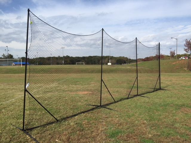 NEW! - Backstop CURV 10' x 30' Adjustable Angle System w/3mm knotted poly net by CrankShooter.