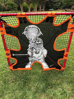 Hi-Impact BOX Lacrosse Shot Trainer by CrankShooter® For 4'x4' BOX GOALS ONLY -Triple Stitching - FREE Shipping  **THIS IS FOR A 4'x4' BOX GOAL ONLY.