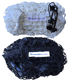 "(4'-9"" x 4ft x 5ft) 6mm Black or White BOX Lacrosse Net - by CrankShooter® - FREE Shipping"