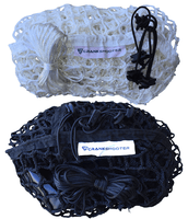 "(4'6""ft x 4' x 5ft) 6mm Black OR White Box Lacrosse Net by CrankShooter® - FREE Shipping"