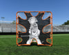 Backyard/Youth Practice Lacrosse Goal/4mm Net COMBO Practice Goal  6'x6'x7' by CrankShooter® 21 lbs - INCLUDES 4MM White Net - Free Shipping