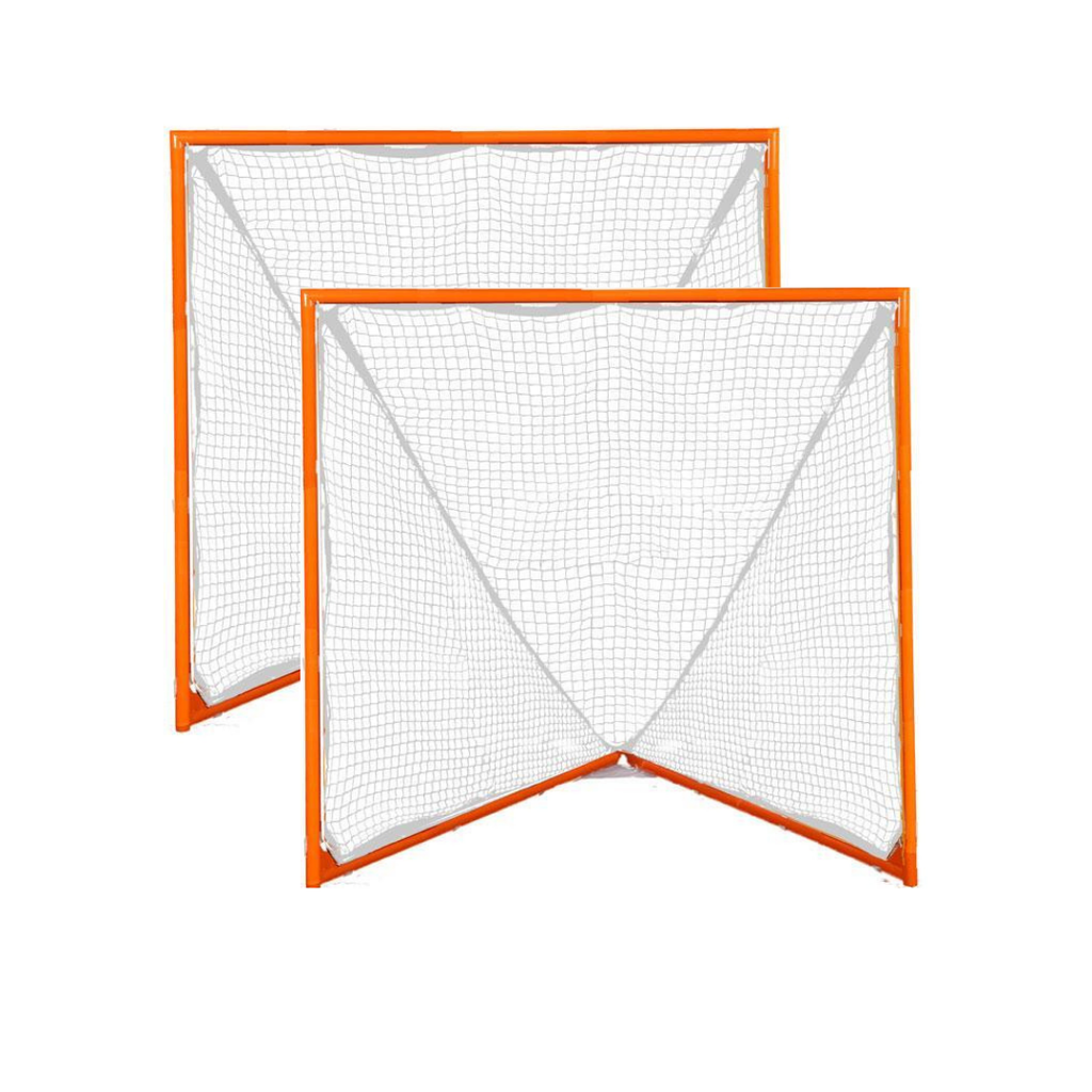 PAIR OF TOURNAMENT GOALS - WITH PAIR 5MM WHITE NETS - 35 LBS EACH - FREE SHIPPING
