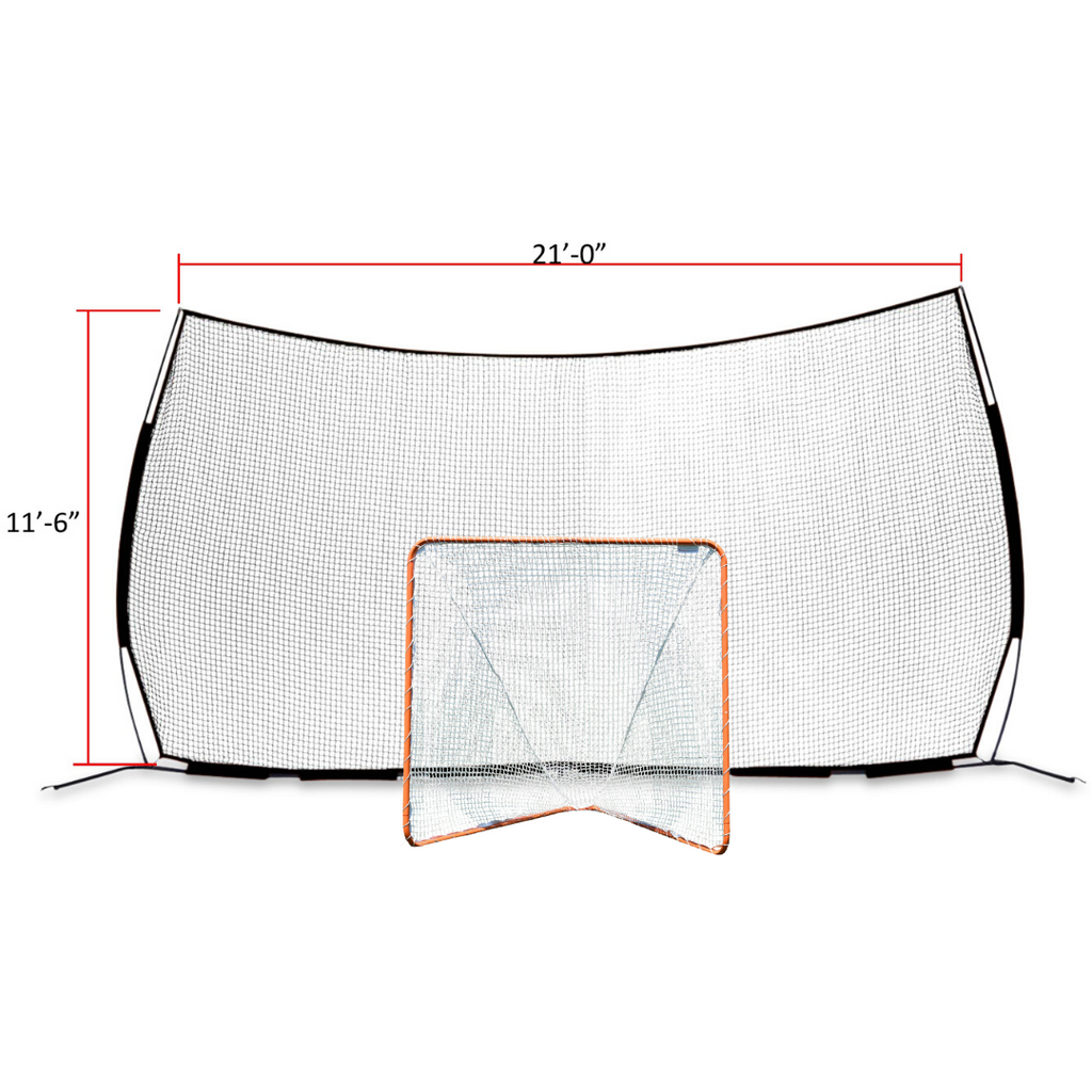 Pop-Up Backstop 21' x 11' & Backyard Goal With 4mm Net COMBO - Most Popular Combo - FREE SHIPPING