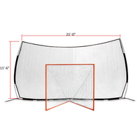 Pop-Up Backstop 21' x 11' & 35 lb Tournament Goal With 5mm Net - FREE SHIPPING