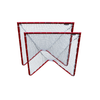 PAIR of Lacrosse Goals - 4x4x4 BOX Lacrosse Goals 26 lbs each - INCLUDES 2x 5mm White or Black CrankShooter® Nets - FREE SHIPPING