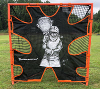 Hi-Impact Lacrosse Shot Trainer for 6'x6'x7' Goal by CrankShooter® - FEMALE GOALIE - Triple Stitching - FREE Shipping