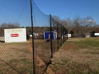 Stationary Backstop System 10' x 30' w/3mm net by CrankShooter®