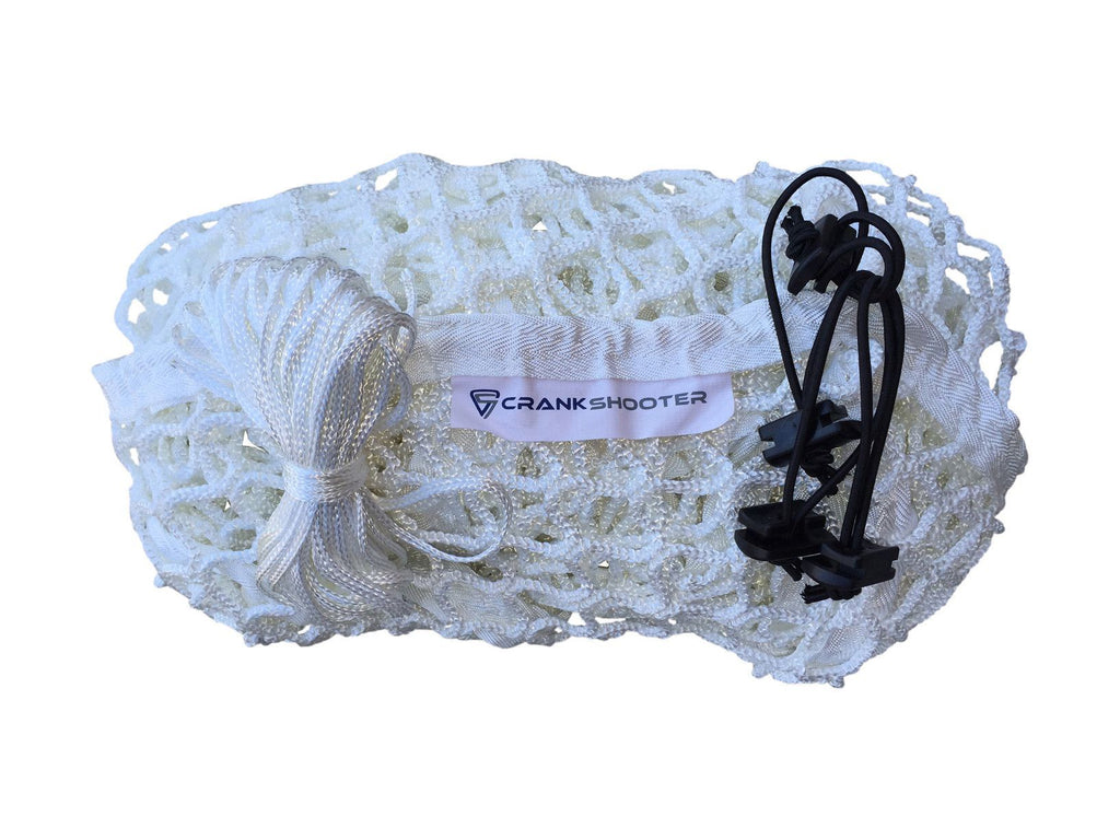 (4ft x 4ft x 5ft) 6mm White BOX Lacrosse Net - by CrankShooter® - FREE Shipping
