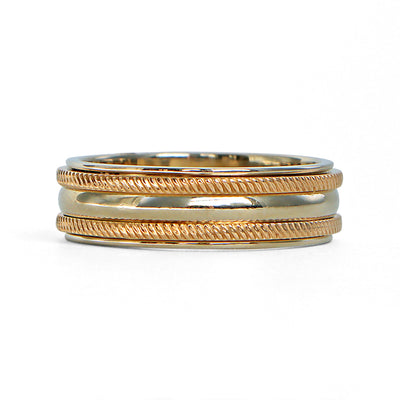 14K Yellow Gold Polished Rope Band