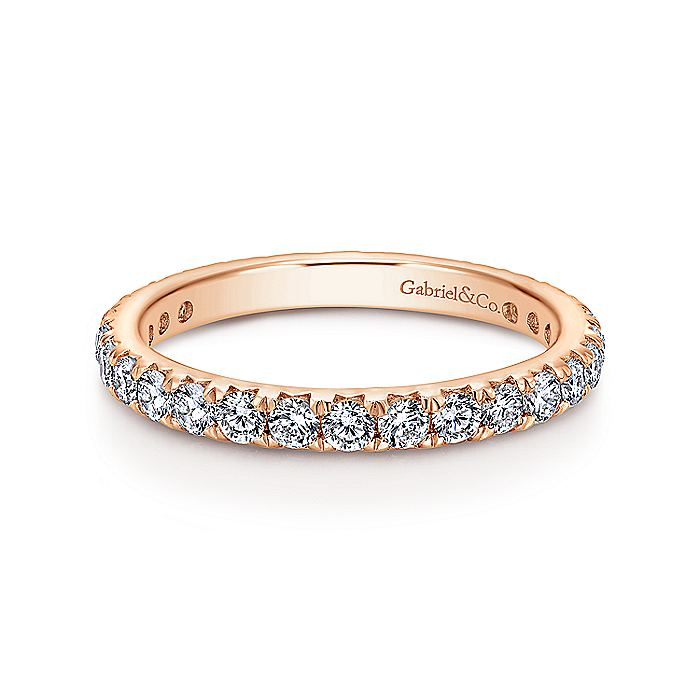 14K Gold Micro Pavé Diamond Eternity Band