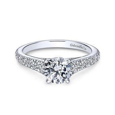 14K Gold Round Diamond Engagement Ring