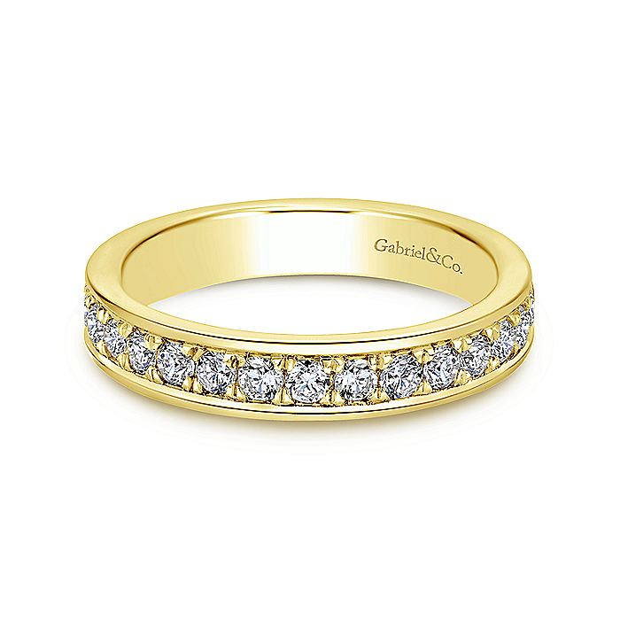 14K Gold Channel Prong Set Diamond Eternity Band