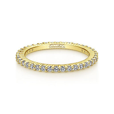 14K Gold Shared Prong Diamond Eternity Band