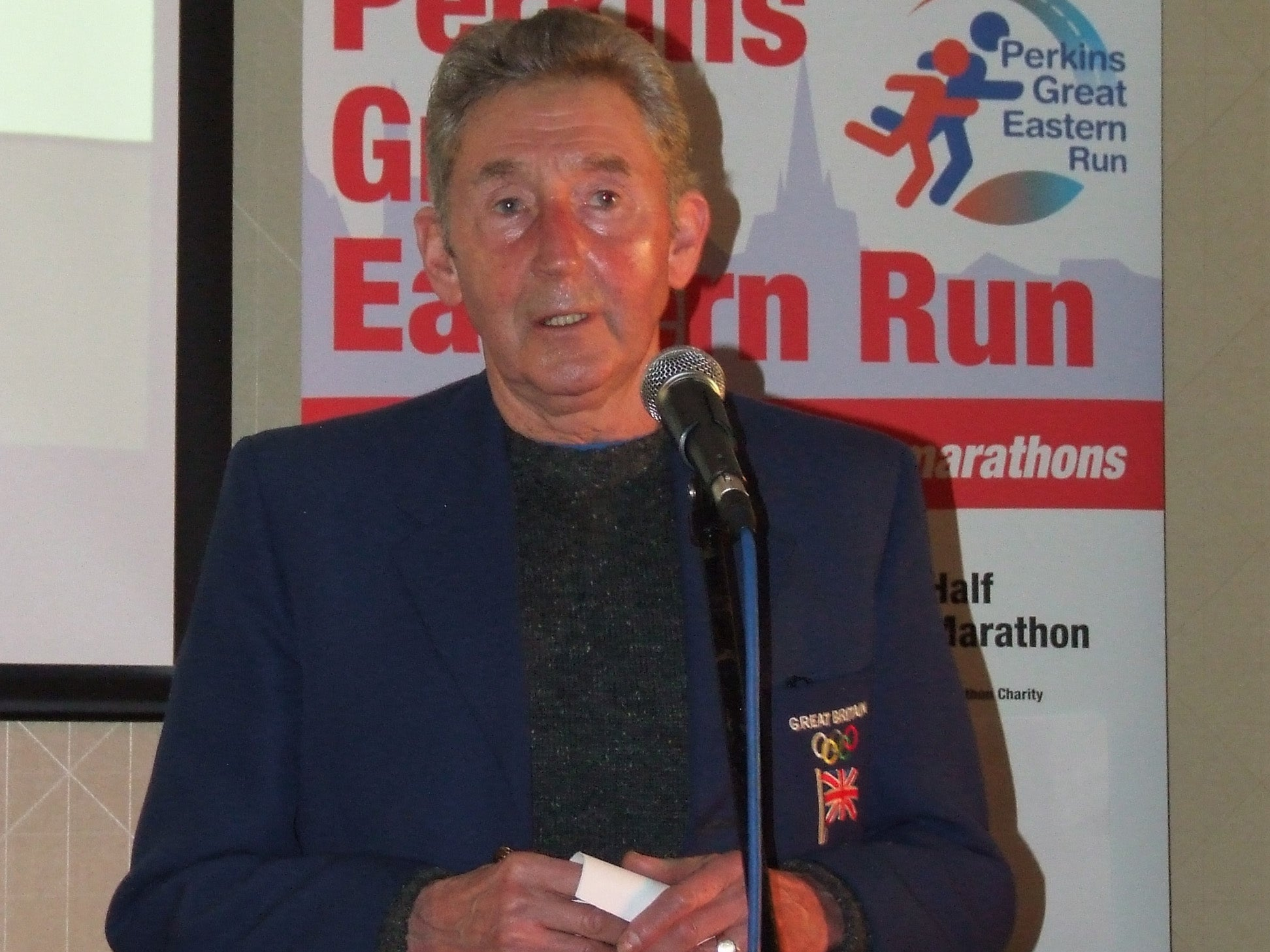 Ron officially launches the Perkins Great Eastern Run 2014