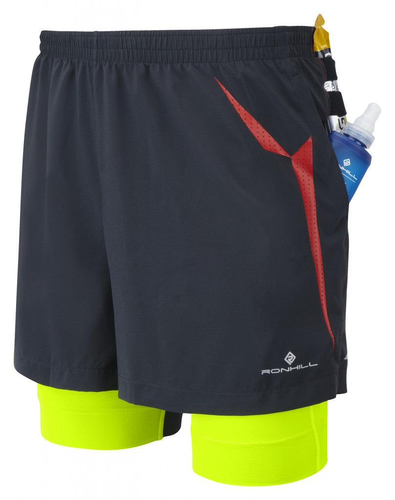 Men's Trail Fuel Twin Short with hidden pockets for carrying water & gels
