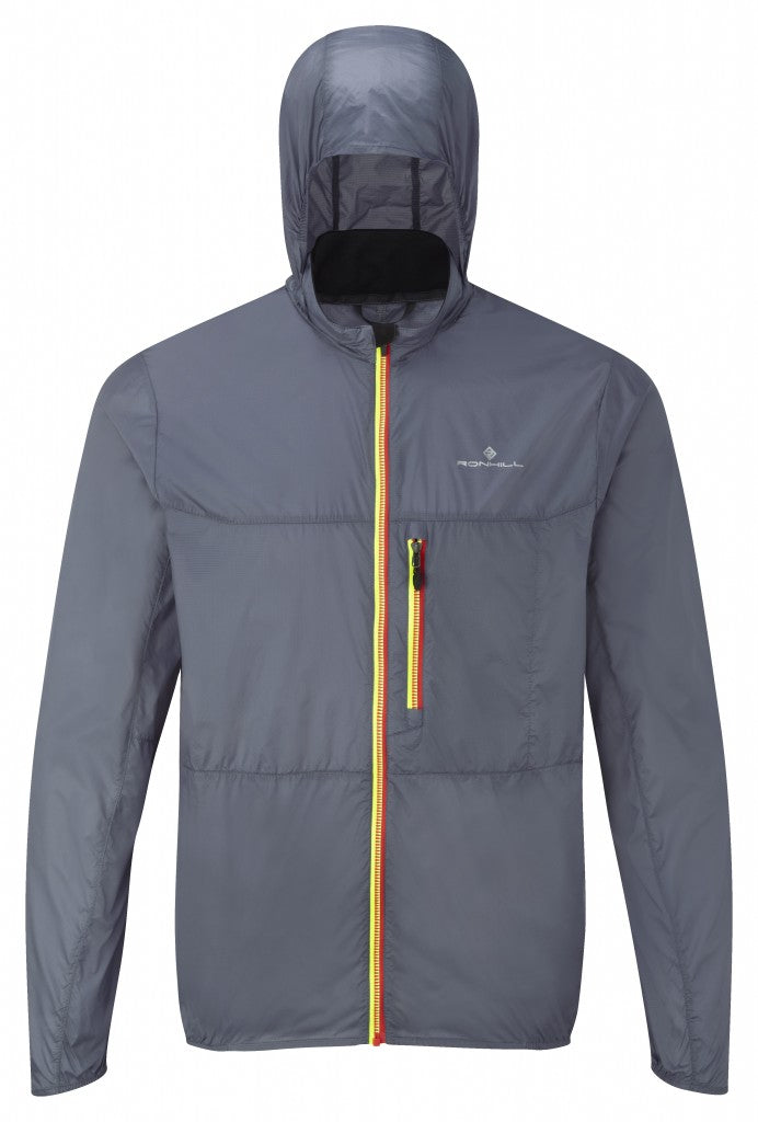 Men's Quantum Jacket in Granite/Racing Red