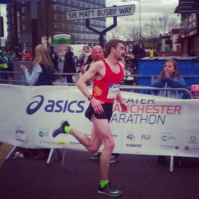 On my way to 2:19:40 and 4th place in Manchester - image credit: Michael Crawley