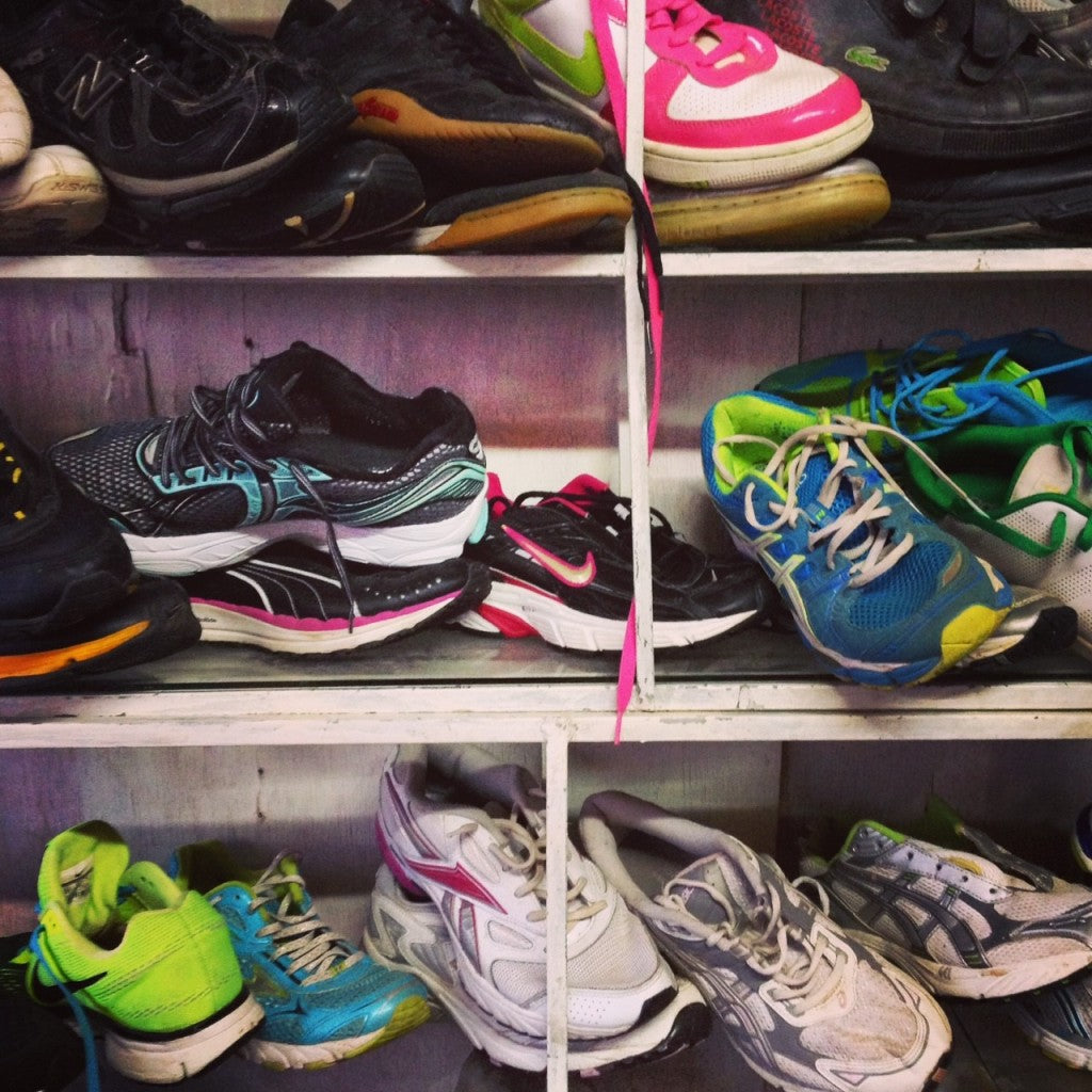 The second-hand running shoe shop