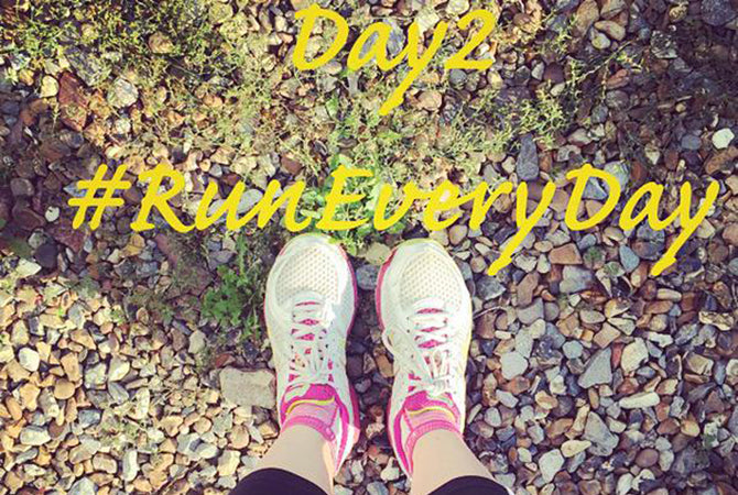 #RunEveryDay Challenge 2015 - pic taken from Twitter @miccmicc