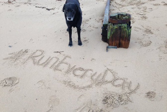 #RunEveryDay Challenge 2015 - pic from Twitter @wizzywalks