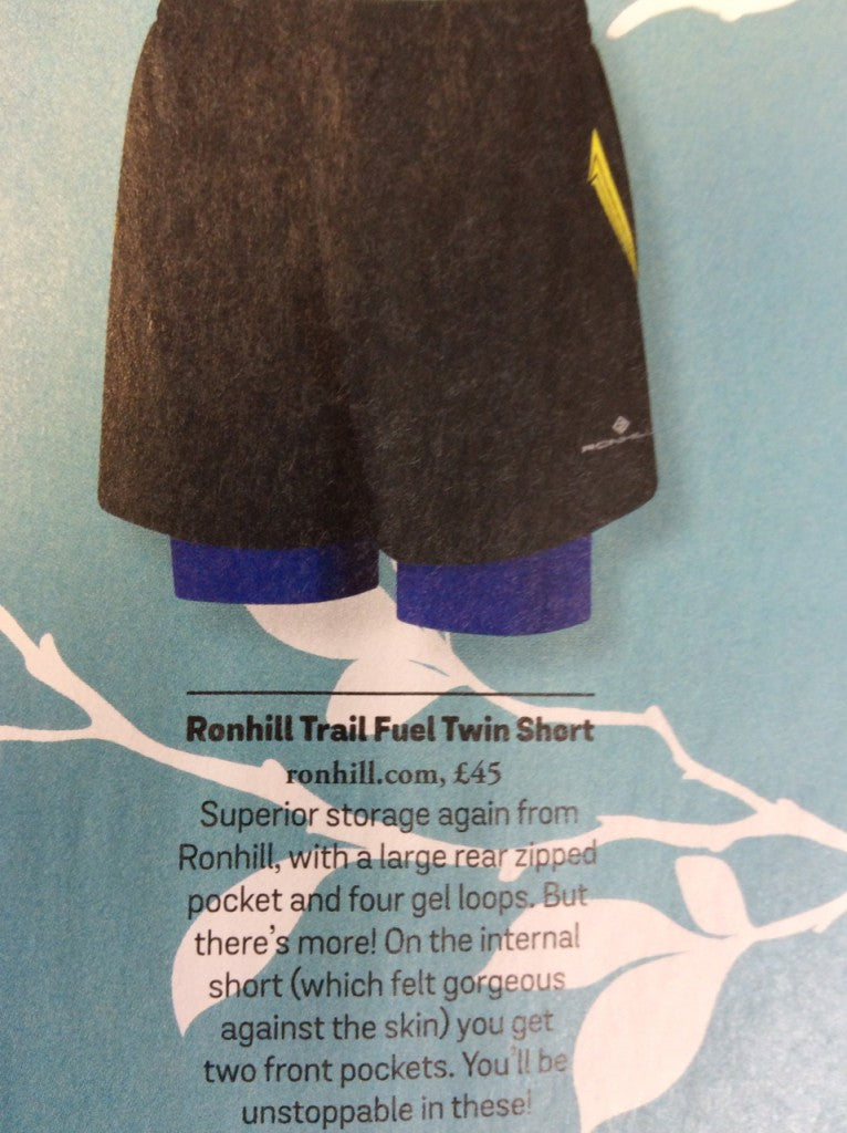 Trail Fuel Twin Short in Black/Elec Purple RRP £45