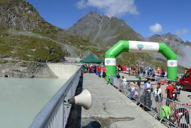 Finish line on the Dixence barrage