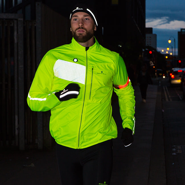 Make sure you can be seen by running in hi-viz clothing and accessories