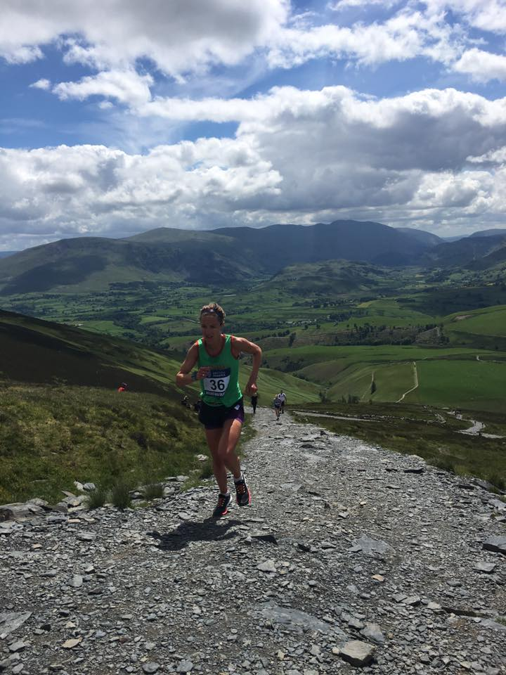 No time to enjoy the view: 1st place for Sarah followed by Victoria Wilkinson of Bingley.