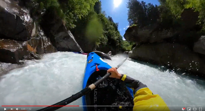 Level Six Paddler Matthias Weger on the Passer Gorge