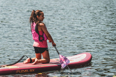 Kids of all ages can enjoy paddling on a stand up paddle board