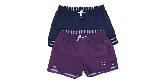 Reversible shorts for women board shorts summer 2021 purple and navy