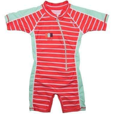 2016 Girl's Aurora Sunsuit Sun Protection 0T / Coral Stripes Outlet