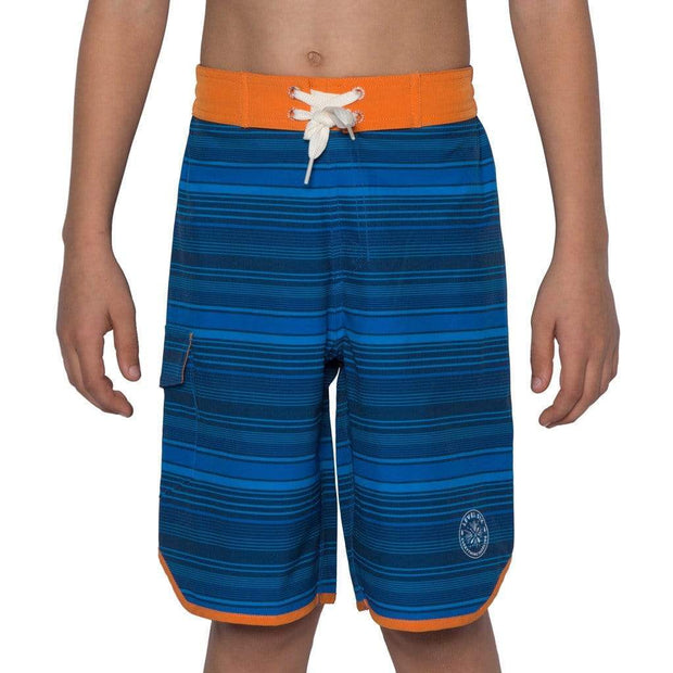 2017 Boy's Amped Boardshort Boardshorts 2 / BLUE STRIPES Outlet