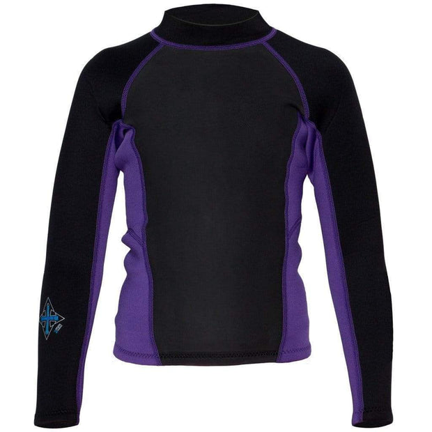 2017 Child's Carver Long Sleeve Neoprene Top Neoprene Grape Juice / 2 Outlet
