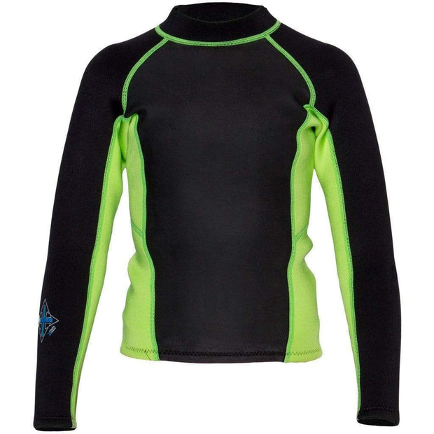 2017 Child's Carver Long Sleeve Neoprene Top Neoprene Kiwi Green / 2 Outlet