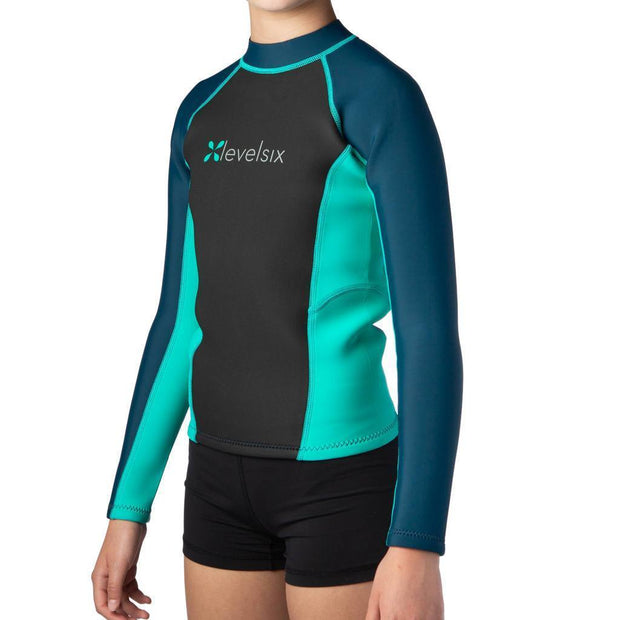 2018 Kid's Carver Long Sleeve Neoprene Top Neoprene Outlet