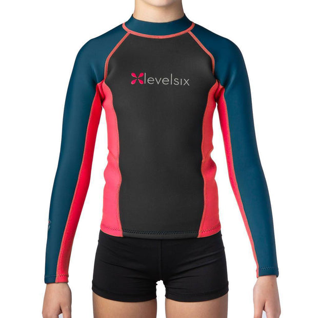 2018 Kid's Carver Long Sleeve Neoprene Top Neoprene RED / 2 Outlet