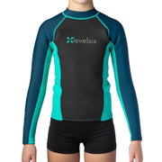 2018 Kid's Carver Long Sleeve Neoprene Top Neoprene TURQUOISE / 2 Outlet
