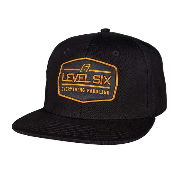 Badge Cotton Hat Headwear Black Level Six