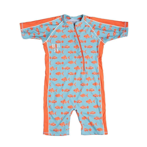 Boy's Apollo Sunsuit Kid's Casual WASHED BLUE FISH / 1T Outlet