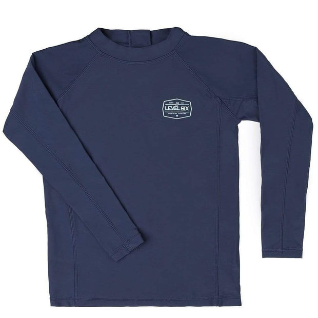 Boy's Slater Long Sleeve Sunguard (Youth) Kid's Casual NAVY / 6 Outlet