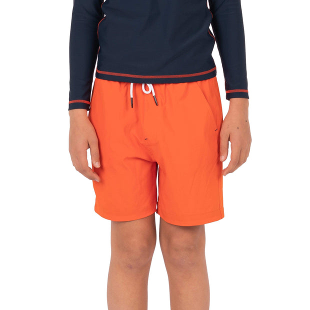 Boy's Snicker Boardshorts Kid's Casual ORANGE RED / 8 Level Six